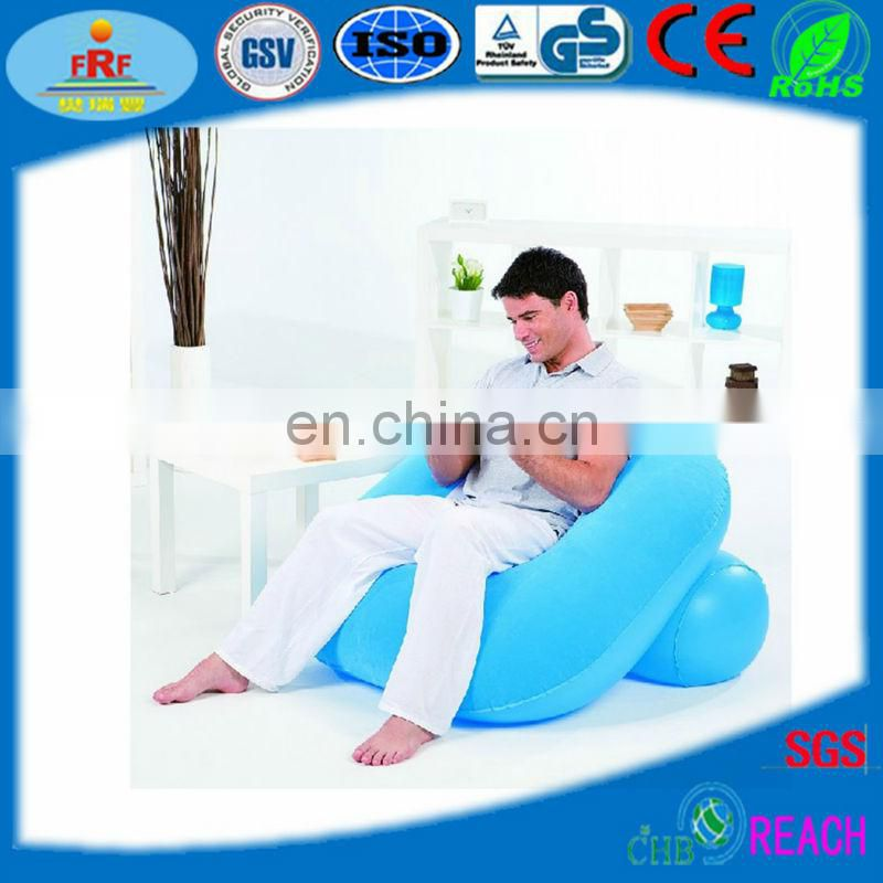 Inflatable Flocked Platen Sofa