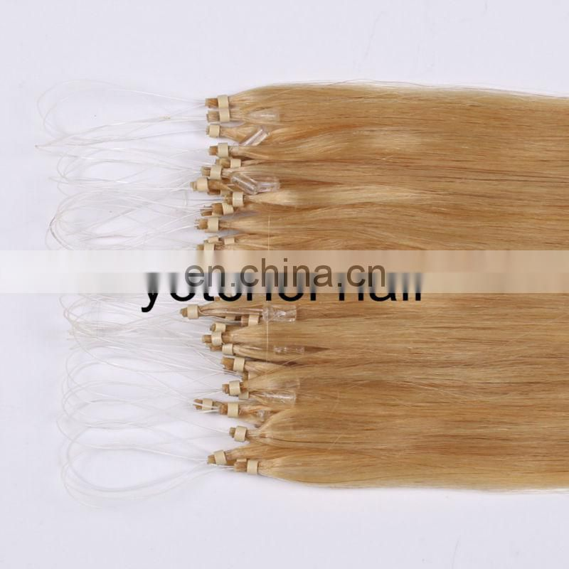 8A grade hair! Unprocessed Brazilian Micro Bead wholesale Yotchoi hair Human Hair Extensions