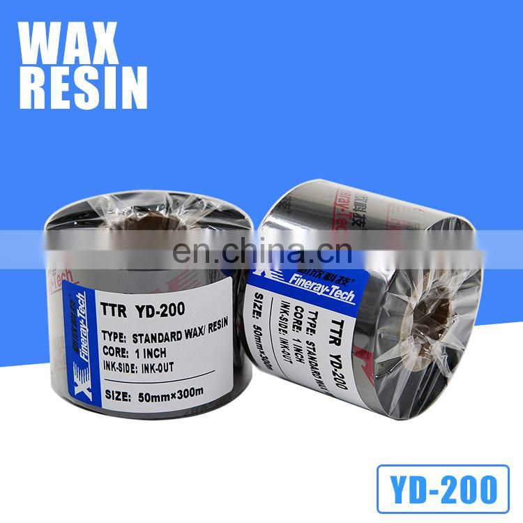Zebra digital label printing wax resin golden white silver thermal transfer ribbon printer