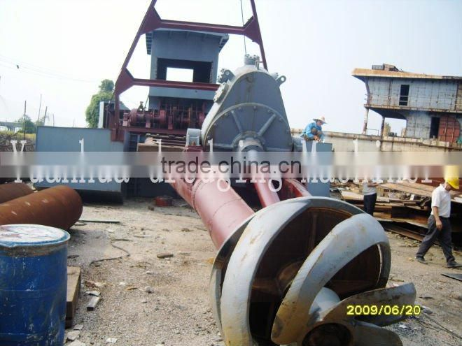 Cutter suction sand dredger hydraulic operation diesel engine driven