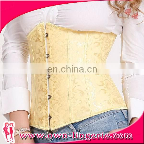yellow waist corset waist training corset for body shaper