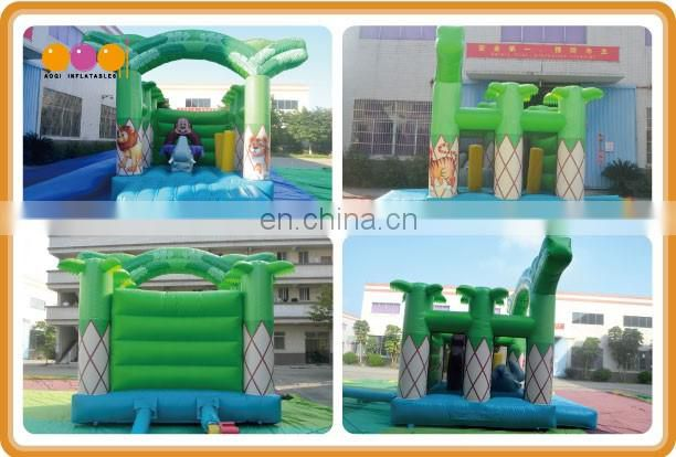 New design home used pvc bouncer zoo bounce jumper toys for kids AQ02362