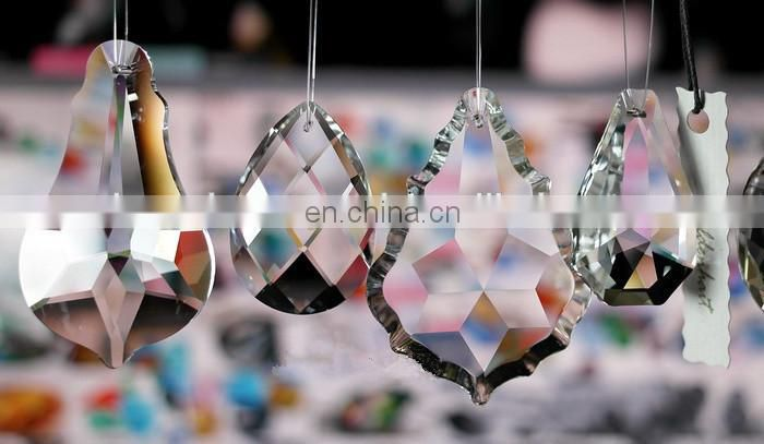 63mm drop glass pendant crystal chandelier parts for lamp holiday decoration