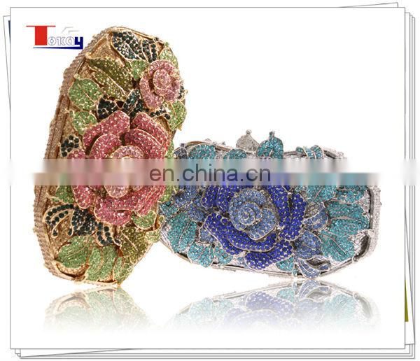 2014 top fashion wholesales rhinestone ladies purse