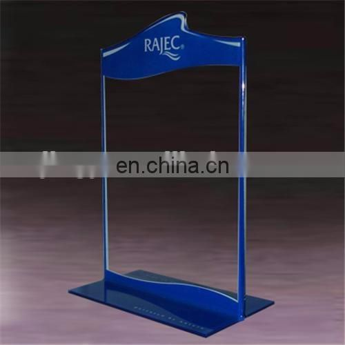 Cheaper clear acrylic A5 menu stand block sign holder A4 acrylic sign holder