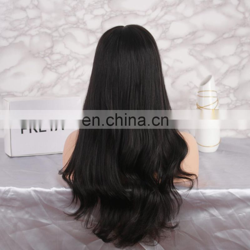 Alibaba 2018 Qingdao Factory Price fashion hot selling peruvian mink full lace wig