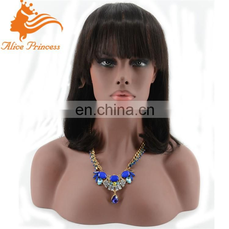 short human hair wigs bob lace front wig with bangs cheap wigs for sale