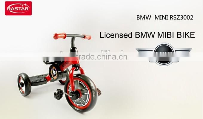 Rastar toy bike made in china BMW MINI licensed 3 wheel kids bike bicycle price