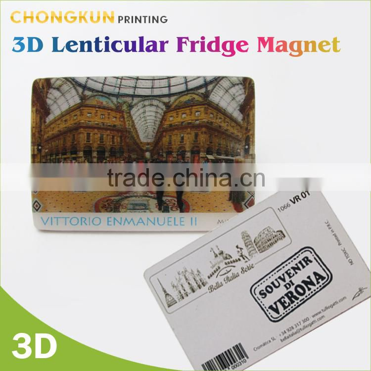 Custom Promotional Tourist Souvenir Square Magnets, 3D lenticular Fridge Magnet Wholesale