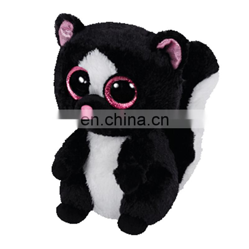 TY branded furry big eyed plush china factory plush toys