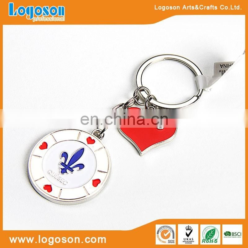 Quebec Souvenir Custom Shape Metal Keychain Wholesale