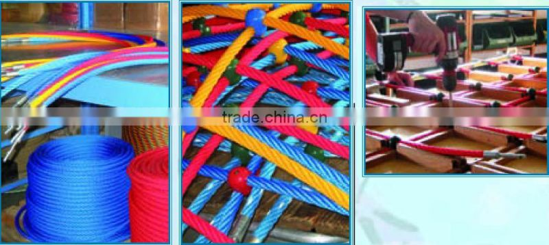 colorful Polyester Galvanized Iron Core Armed Rope with high quality made in China