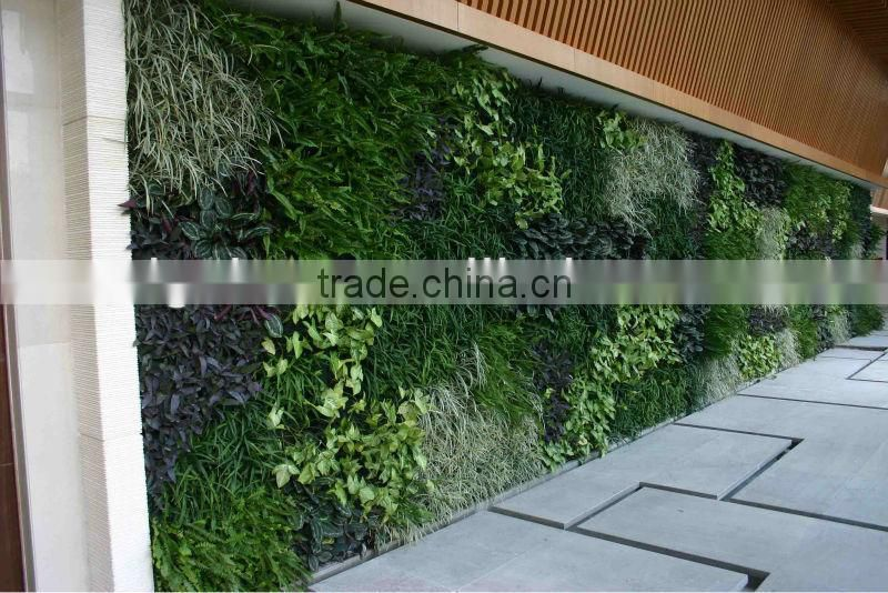 2017 hot sale greenery wall artificial plant wall artificial/fake wall hang plant for indoor decorative