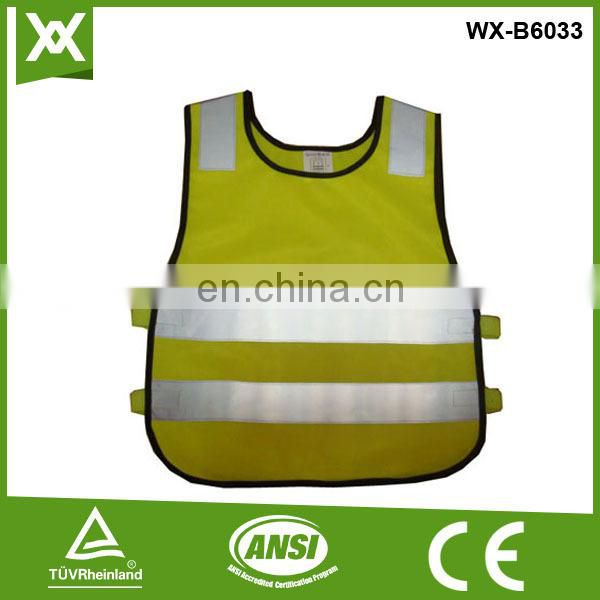 polyester 120Gsm class2 tape high visibility wholesale orange children reflective vest, wholesale orange children reflective ves
