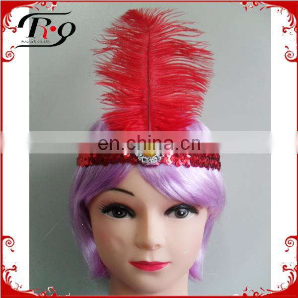 red feather indian party headband