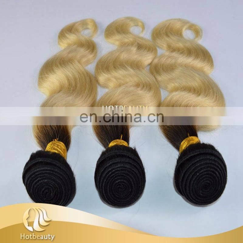 Virgin quality peruvian human hair in blonde color, 613 blonde hair