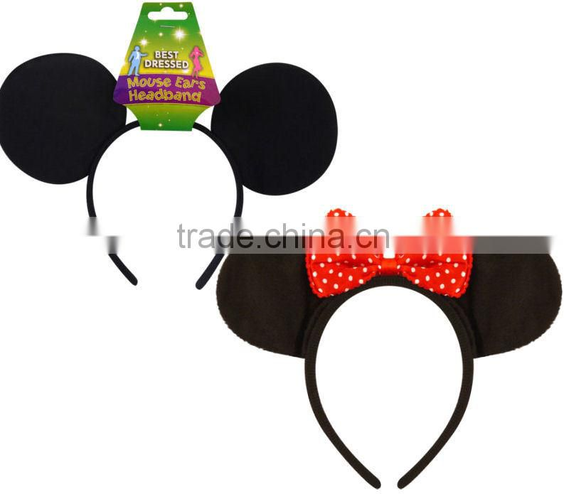 2014 hot sales Mouse Ears Headband Dress Mickey Minnie H116