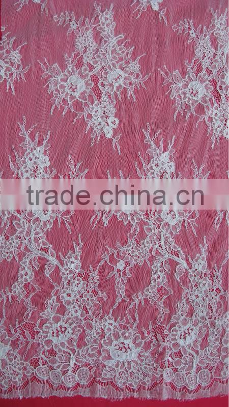 Wholesale scalloped shaped lace trim , tulle lace trim wholesale , bridal lace trim