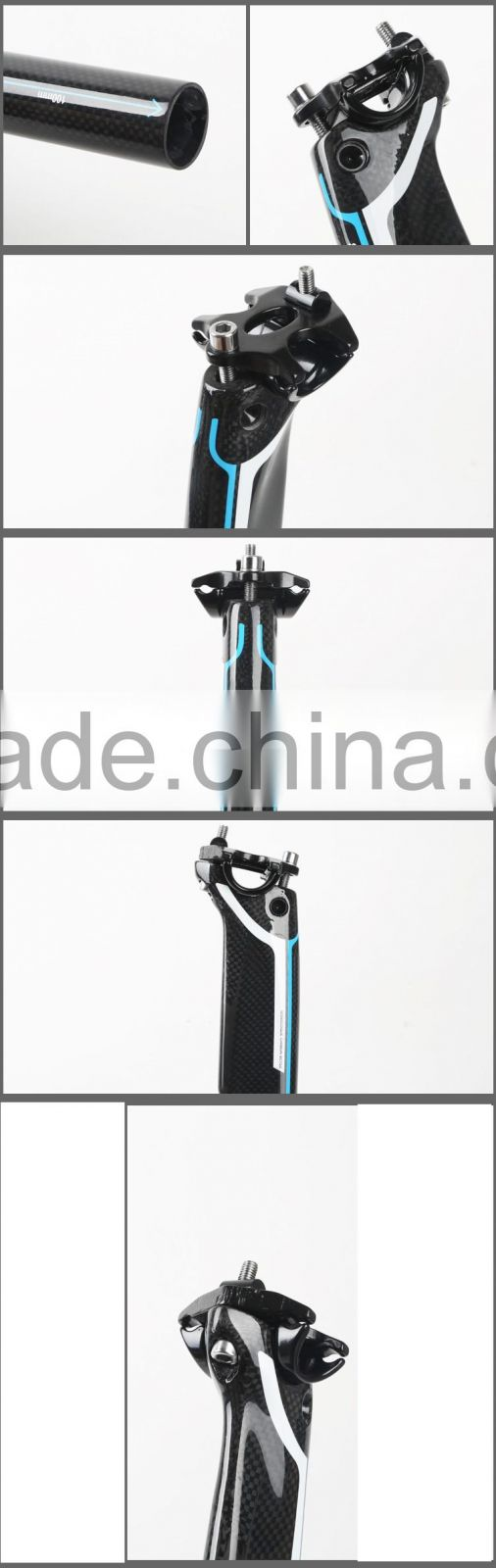 PK001 Shenzhen high quality full Carbon Racing MTB bike seatpost Bicycle seat post Cycling Sitting HOMHIN