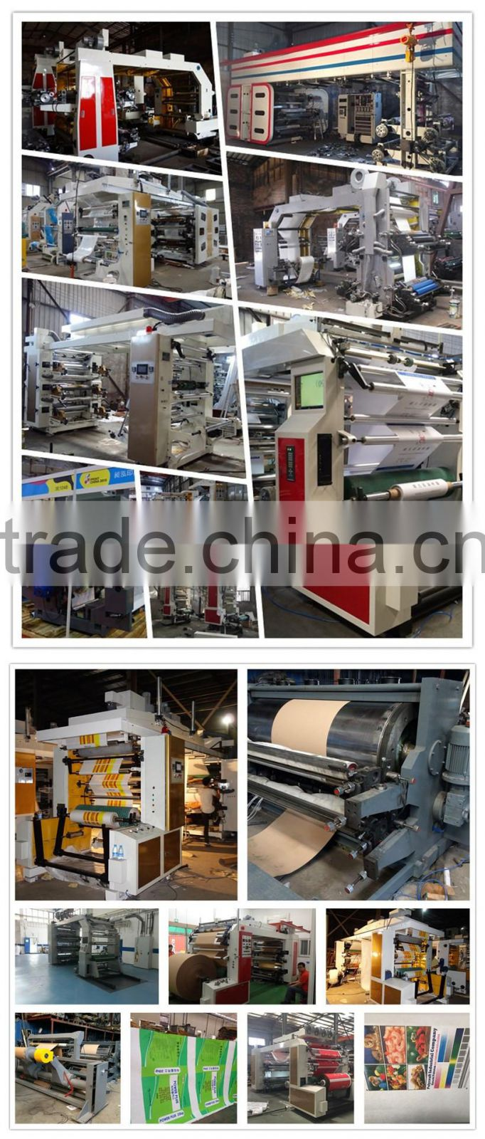 High Speed 4 Color Napkin Paper Flexo Printing Machine