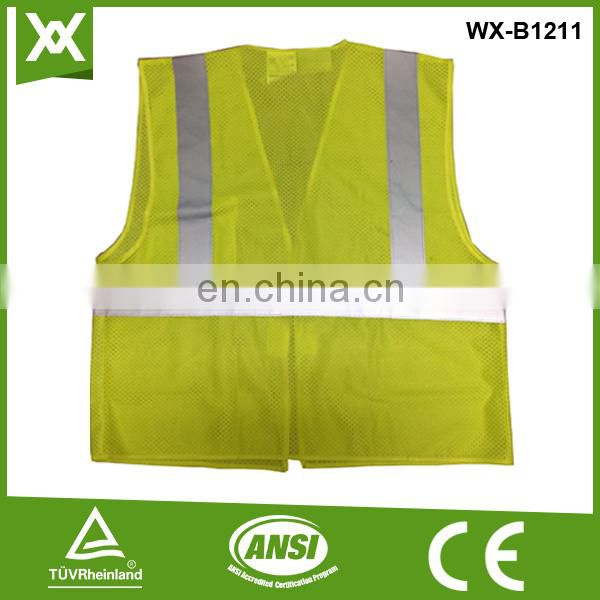 print logo breathable green labor reflective work jacket