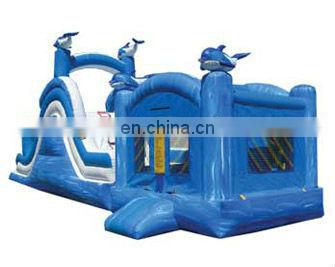 Multicolor castle slide combo and commercial inflatable combo