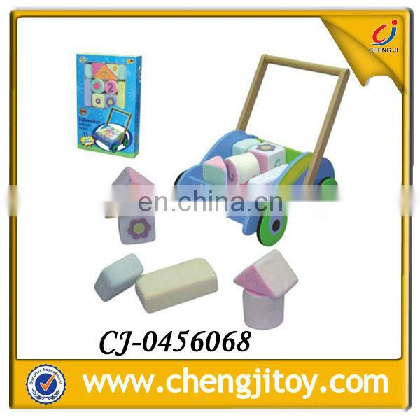 Happy toys colourful wooden baby barrow