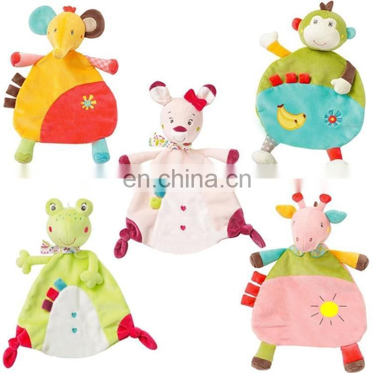 Animal shaped baby plush blanket for bath towel usage
