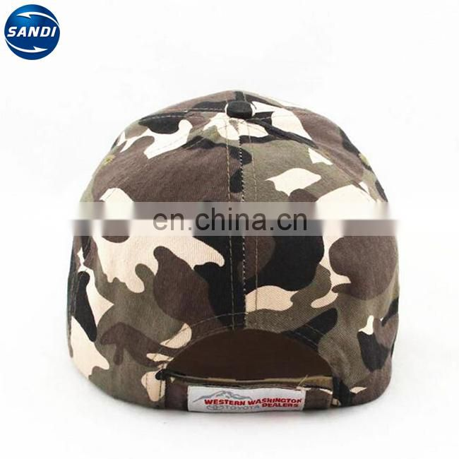 Promotional customized men camouflage military cap