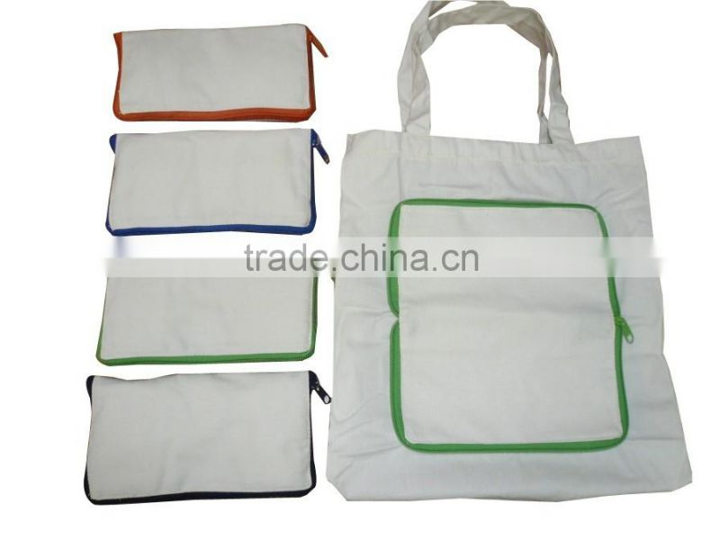 Accept Custom Order and Cotton Material Foldable Shopping Bag