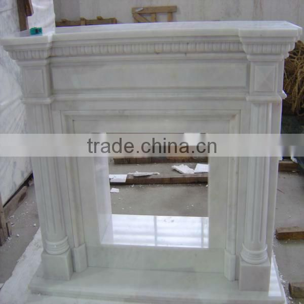 White Marble Fireplace Cheap Fireplaces Mantel