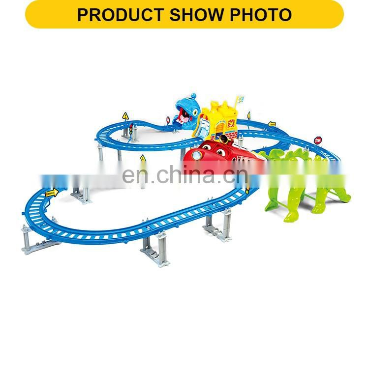 Children Electric Railway Rail Car Toy With Light & Music