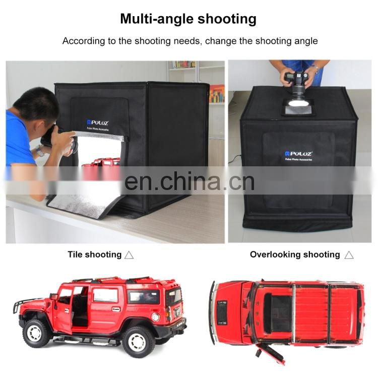 fashion camera accessories Portable 60W 2 x 1690LM 5500K White Light Photo StudioTent Box Kit photography photo background