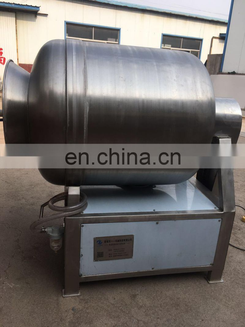 Large 1000 L Stainless Steel Vacuum  Salted Food Rotary Barrel Tumbling Meat Tumbler Machine