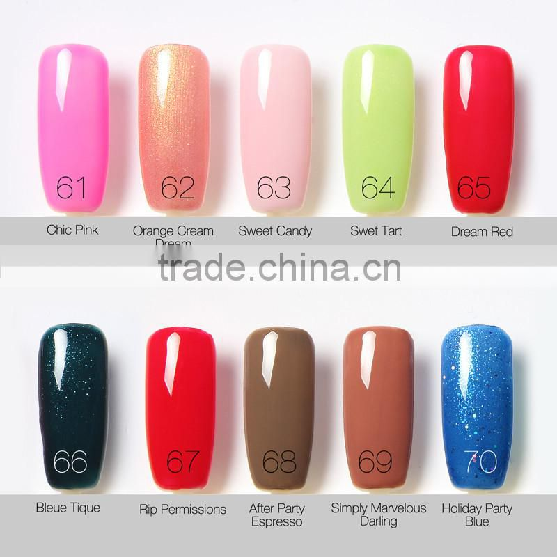 Colour changing non toxic free sample uv gel custom nail polish ...