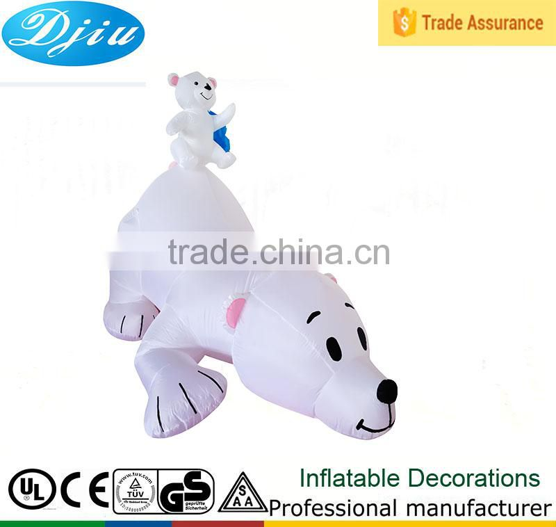 DJ-XT-85 Christmas Inflatable Polar Bear family Cub Yard Garden Art Decoration