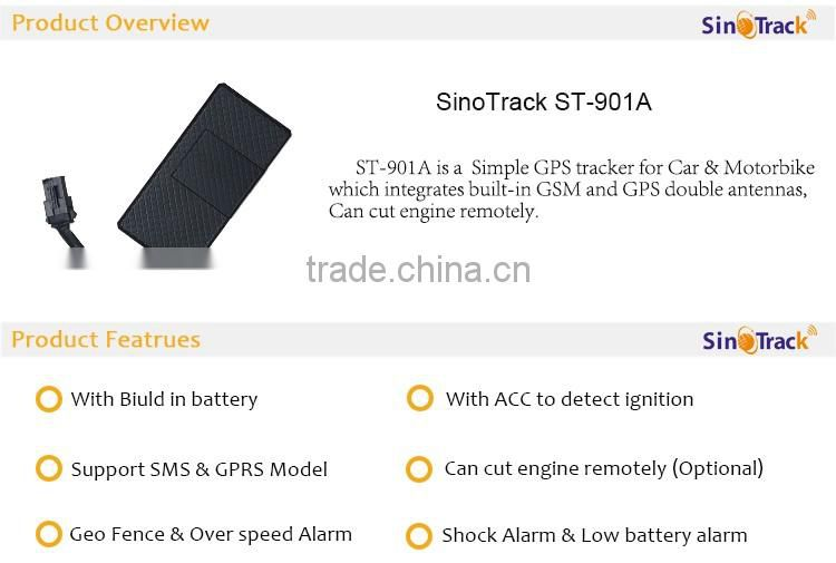 SinoTrack Remote Cut Off Engine GPS GSM Motorcycle Tracker