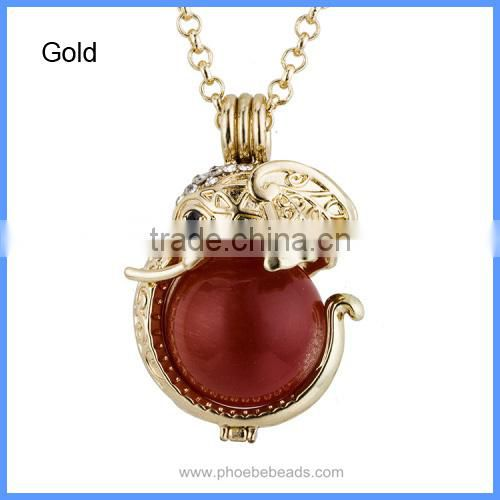 Wholesale Elephant Chime Bell Magic Box Ball Mom Baby Belly Pregnancy Necklaces BAC-M040 Image