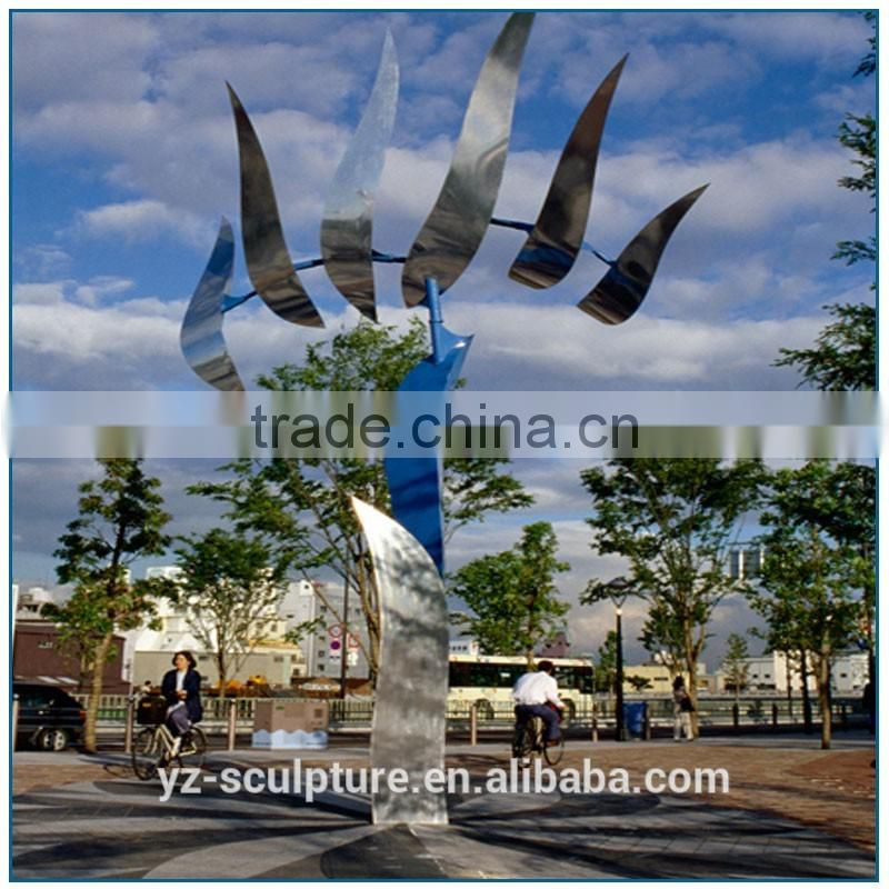 large stainless steel art sculpture for outdoor decoration