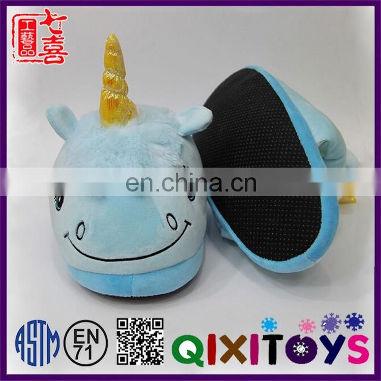 2017 Hot sale creative ladies unicorn slippers shoes for women China factory wholesale