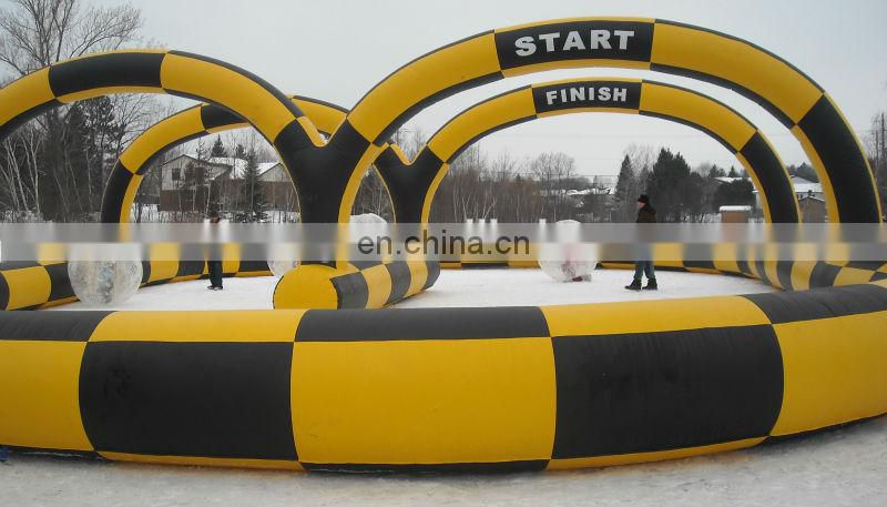 Funny inflatable racetrack, inflatable circuit, inflatable raceway