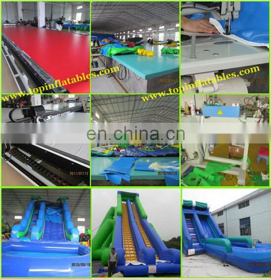 Giant inflatable water slide inflatable big double line water slide with pool