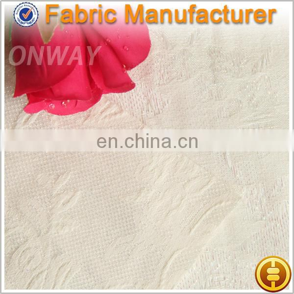 Onway Textile Polyester yarn dyed metallic jacquard fabric