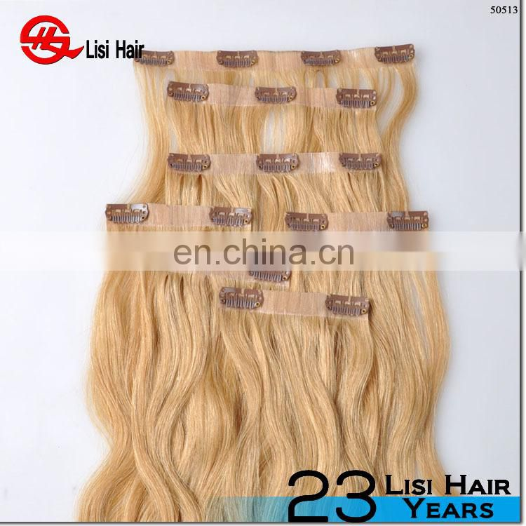 2016 new arrival high quality double drawn seamless clip in hair extensions