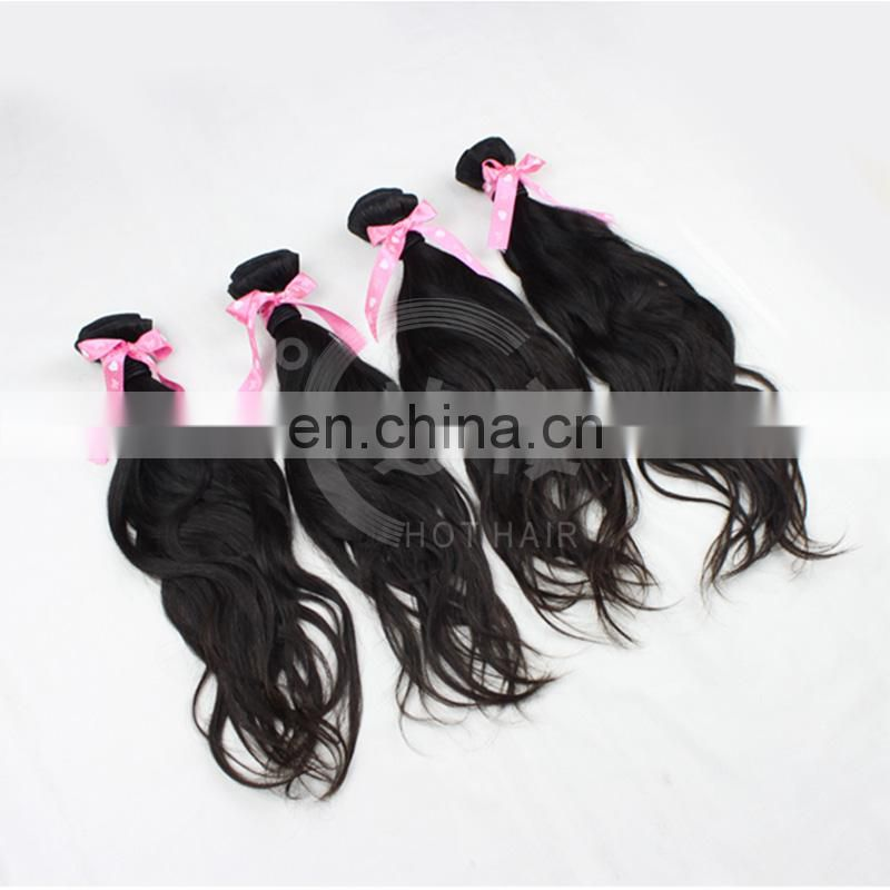 No Artificial Coloring Cuticle Same Direction 8~30Inch 7A Grade 100% Black Color Virgin Indian Natural Wave Hair