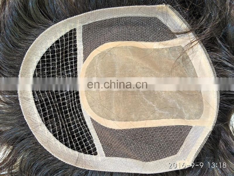 Wholesale Cheap Natural Real Toupee For Men Men's Custom Human Hair Piece Toupee