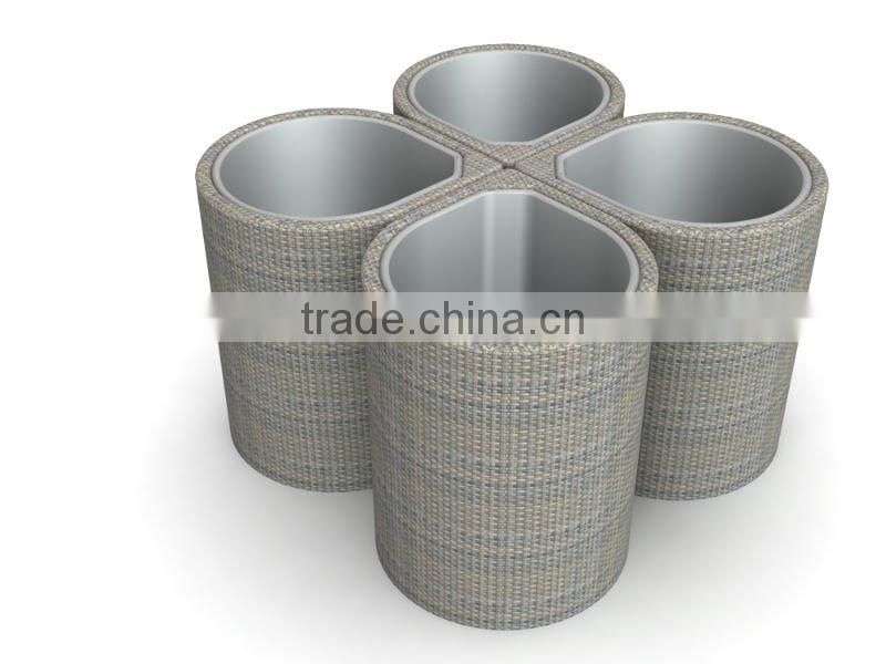 garden rattan dust bin or wicker patio garbage can