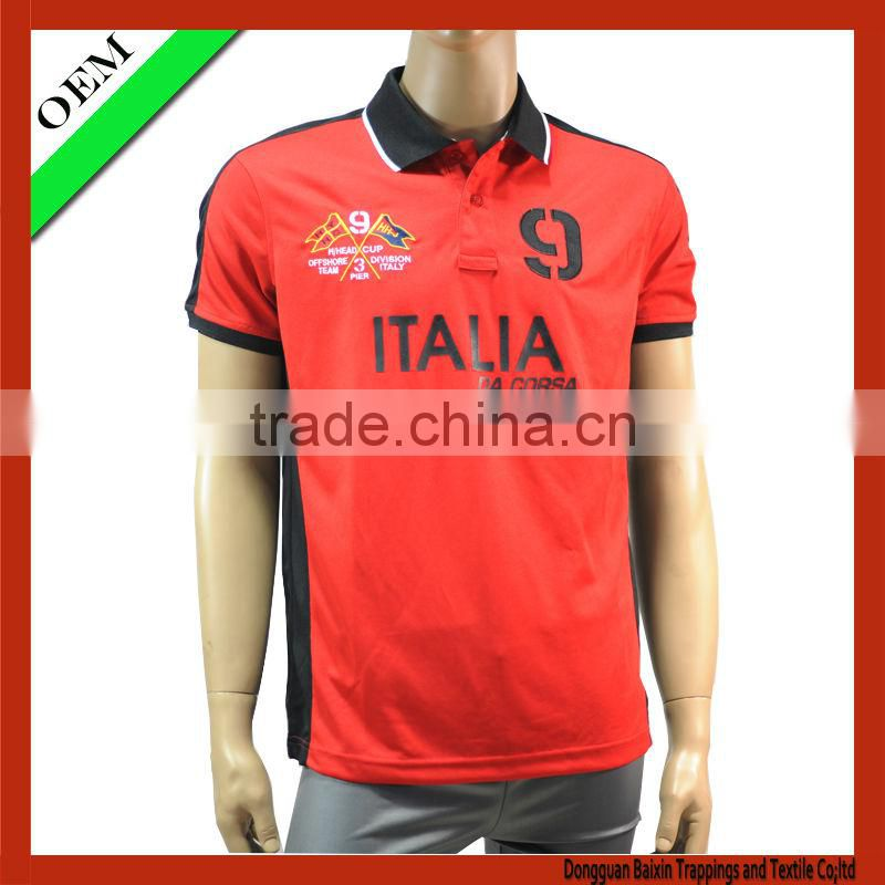 2014 new style printing fashion polo sport t-shirt for men / polyester t shirt