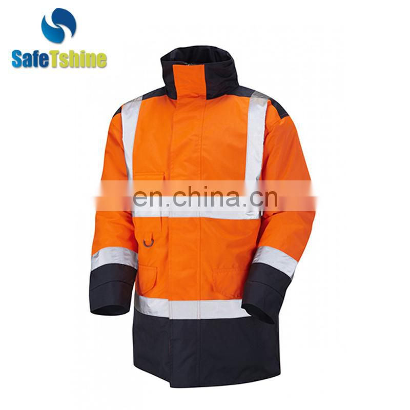 Safety reflective jacket heavy winter jackets