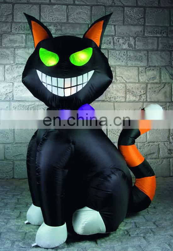 Inflatable Halloween pumpkin balloon with LED lights